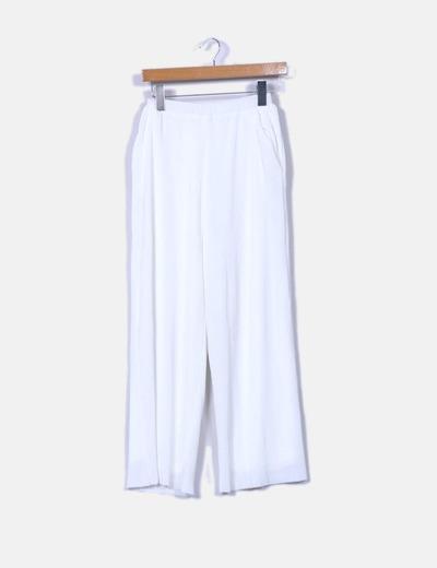 Pantalón culotte blanco texturizado NA-KD