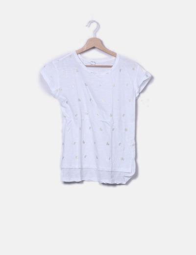 Camiseta blanca print plátanos