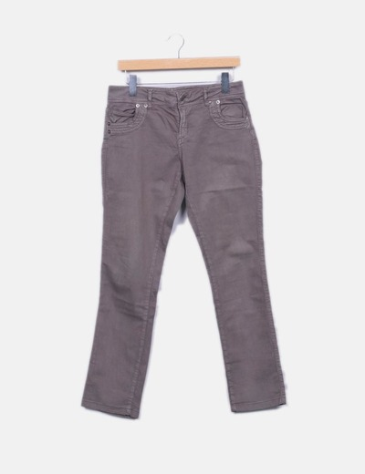 Pantalon marron droit NoName