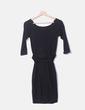 Vestido negro plisado Hoss Intropia