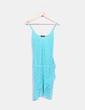 Vestido tirantes azul combinado con strass By Pilar