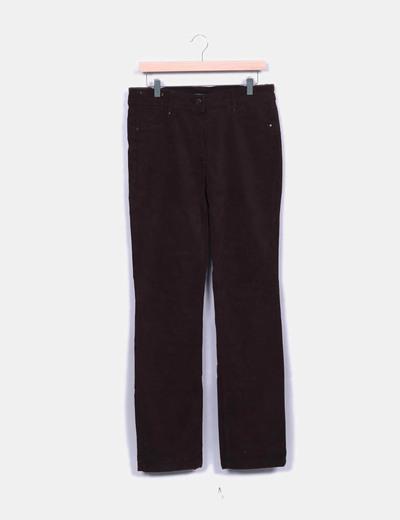 Pantalón marrón recto Síntesis