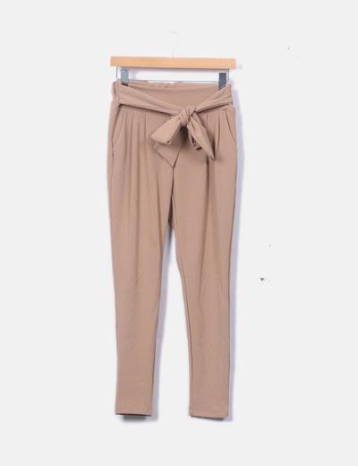 Pantalón baggy marrón