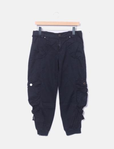 Pantalón pirata caro negro