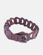 Cinturón marrón con hebilla metalizada NoName