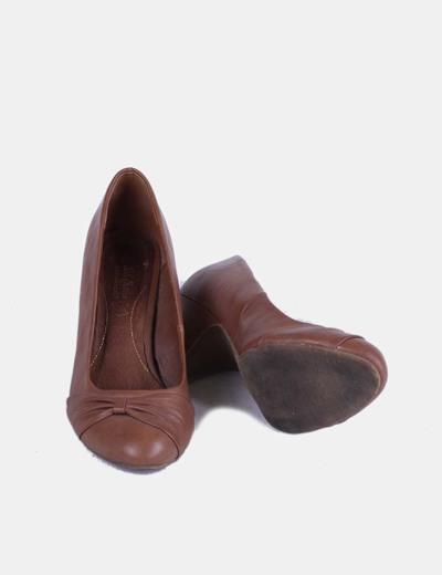 Zapato marron punta redonda