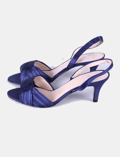 e717ee792 Zara Sandalia azul marino satinada (descuento 75%) - Micolet