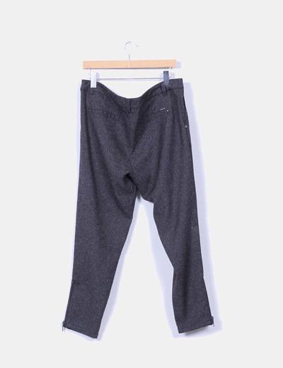 Pantalon lana gris marengo jaspeado