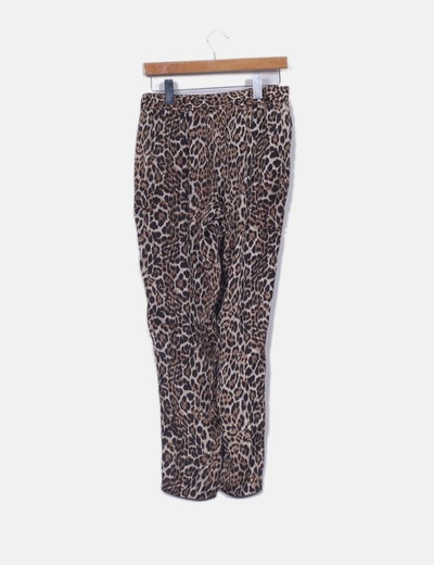 Pantalon harem leopardo