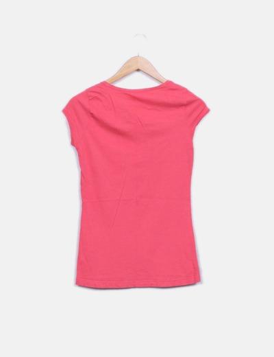 Camiseta rosa print girl