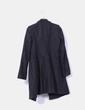 Abrigo negro de paño Benetton