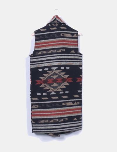 Capa de lana jacquard etnico