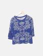 Camiseta manga larga azul estampada Sfera