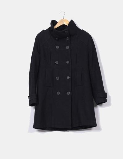 Abrigo negro Rosa d' Alejandria