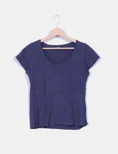 T-shirt bleu marine Kiabi