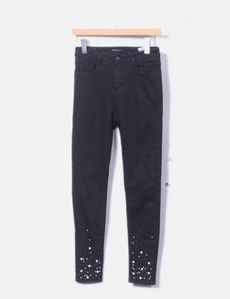 d67e66c68f Jeans denim negro con perlas Elegant´s