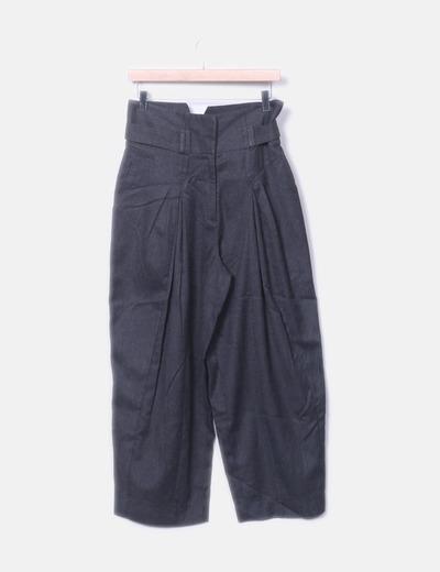Calça culotte cinza H&M