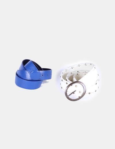 Conjunto de cintos azul y crudo NoName