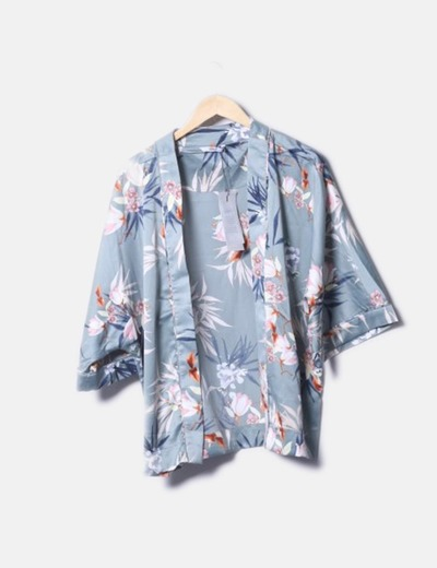 Kimono verde floral