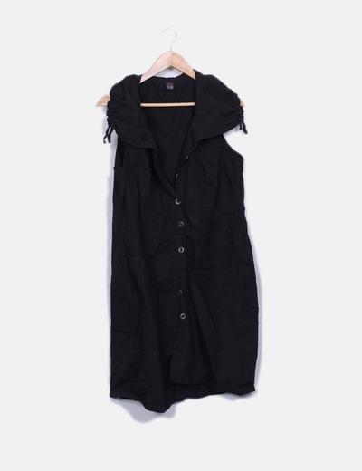 Vestido safari negro con bolsillos Ms mode