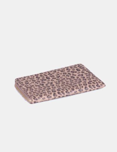 Cartera billetera texturizada animal print