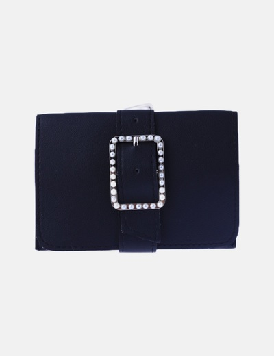 Riñonera negra perlas