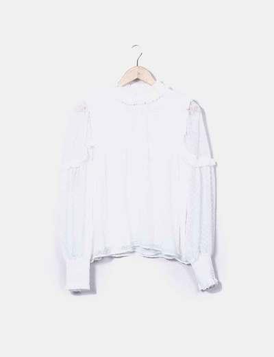 Blusón plumetti blanco