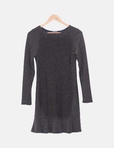 Vestido negro glitter