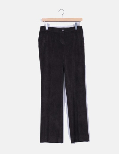 Pantalón recto de pana marrón