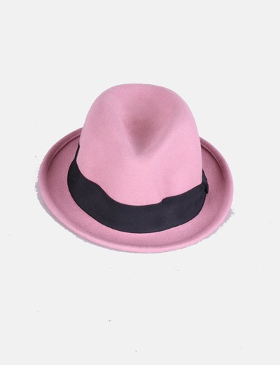 Borsalino rosa de ala corta Kling