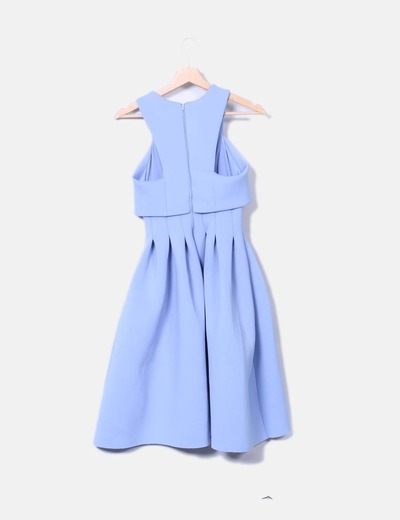Vestido vintage neopreno azul