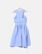 Robe bleue néoprène vintage Asos