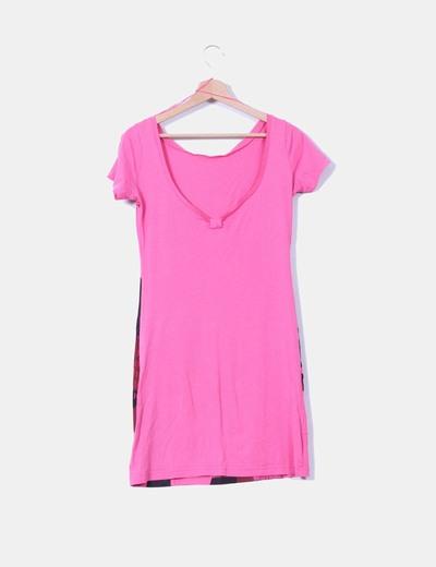 Vestido print rosa