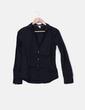 Camisa negra manga larga H&M