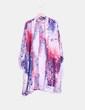 Kimono rosa y azul estampado Some days lovin