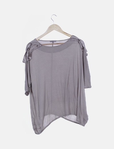 Camiseta fluida taupe