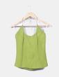 Conjunto falda maxi y top halter verde Carmen Ramilans