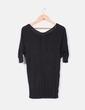 Camiseta negra manga francesa  Bershka