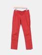 Pantalón recto color rojo Made in Italy