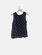 Blusa azul marino print mapaches Pull&Bear