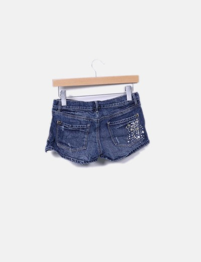 Shorts denim strass