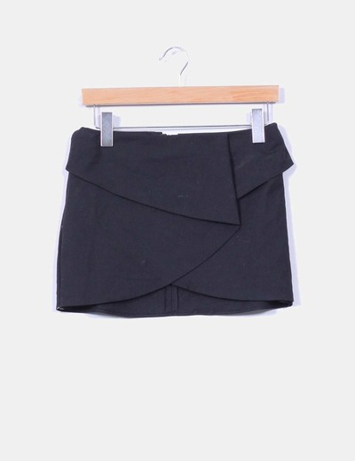 Falda negra Pull&Bear