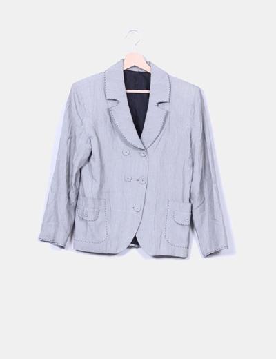 Blazer gris efecto patronaje NoName