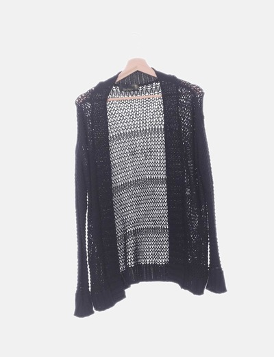 Cardigan tricot negro