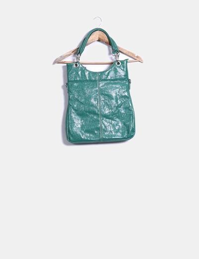 Bolso verde texturizado Sunrise