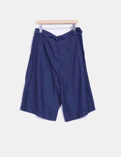 Pantalon culotte azul marino