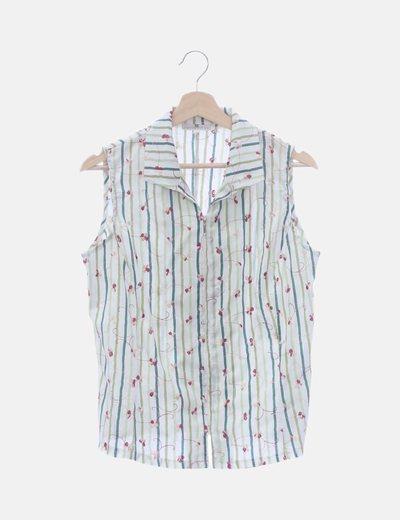 Camisa rayas con glitter