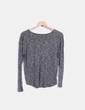 Top tricot gris jaspeado Shana