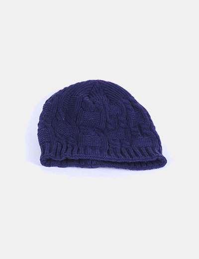 Gorro azul marino de lana NoName