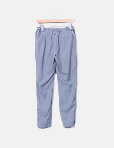 Pantalon gris fluido